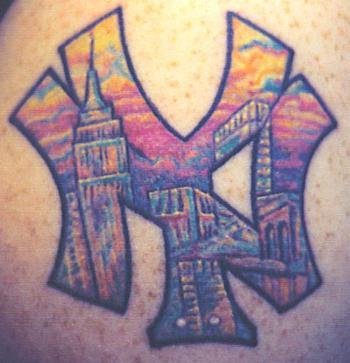Bodypainting and tattoos new york yankees tattoos for New york yankees tattoos designs
