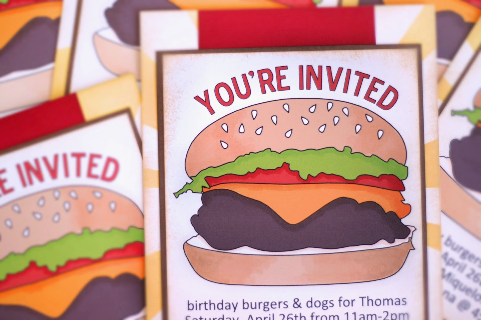 Just ME: BBQ party invitations.