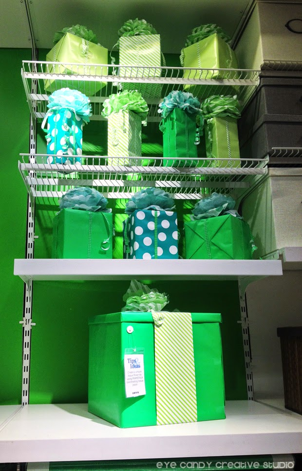 gift wrap from IKEA, green wrapping paper, green paper products