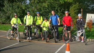 Keytek Emergency Locksmith take part in charity event the 'Glastonbury Bike Ride 2013' in aid of the British Heart Foundation