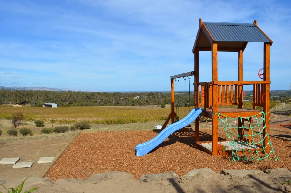 Photo of the kid friendly playground at Gemtree Vineyards