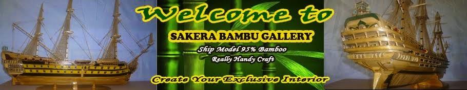 Miniatur Kapal Bambu