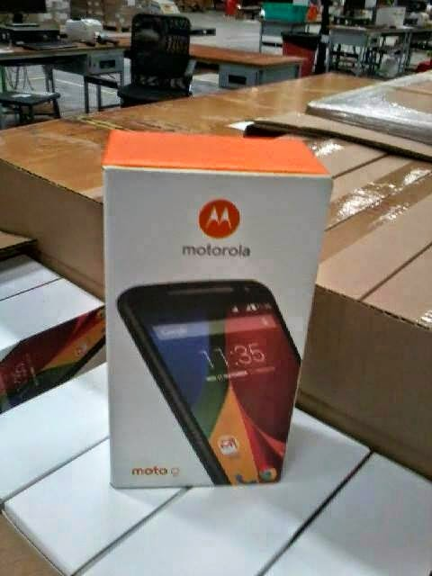 New Moto G retail box