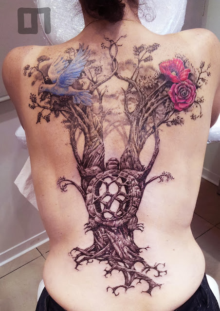 new visitez le site www loicmalnati com tatouage d 39 arbre pour patricia vegetal tattoo. Black Bedroom Furniture Sets. Home Design Ideas