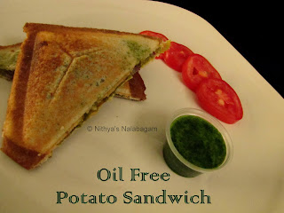 Oil Free Potato Sandwich