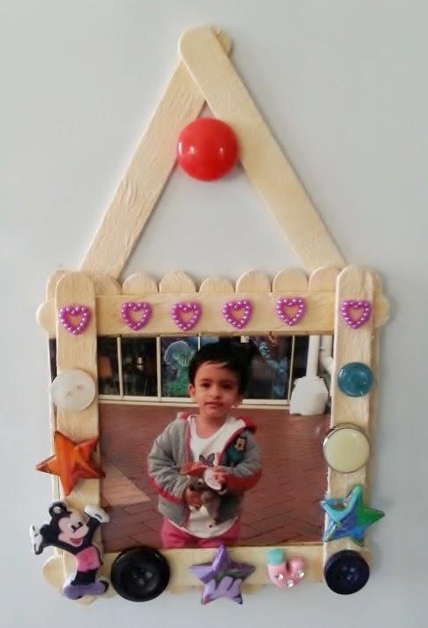 Life\'s little treasures: Ice cream stick photo frame + yummy tidbits