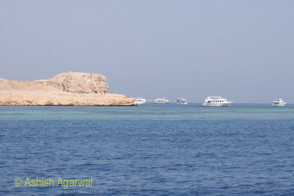 The shoreline near the Ras Muhamed Protected marine park near Sharm el Sheikh in Egypt