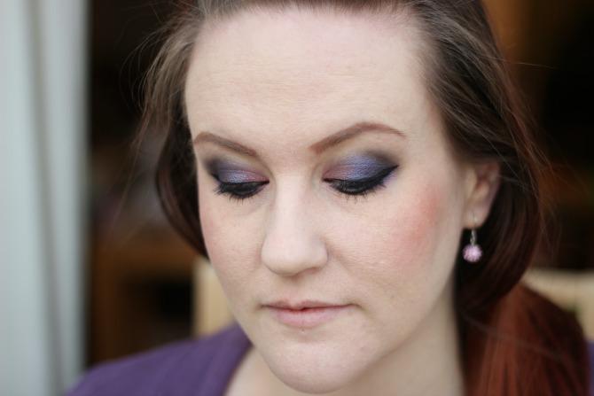Purple eyes NYE look