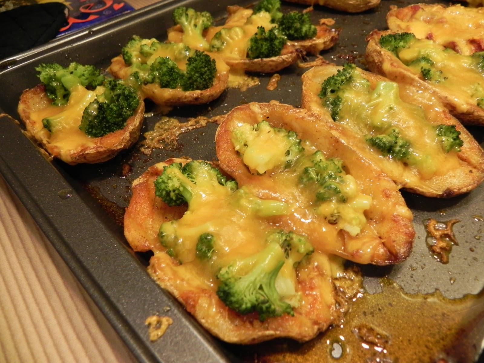 Broccoli and Cheddar Potato Skins | The Adirondack Chick