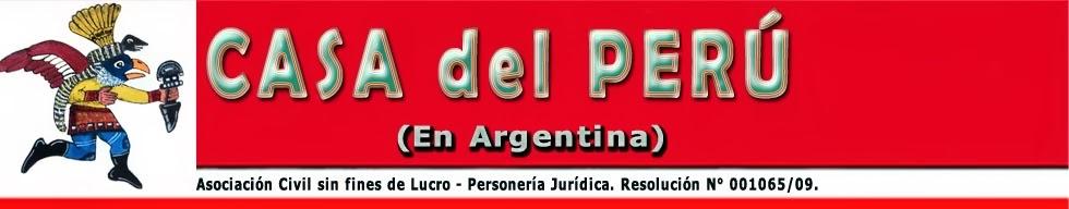 CASA DEL PERÚ en ARGENTINA