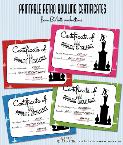 bowling awards ideas  bnute productions: Free Printable Bowling Award Certificates