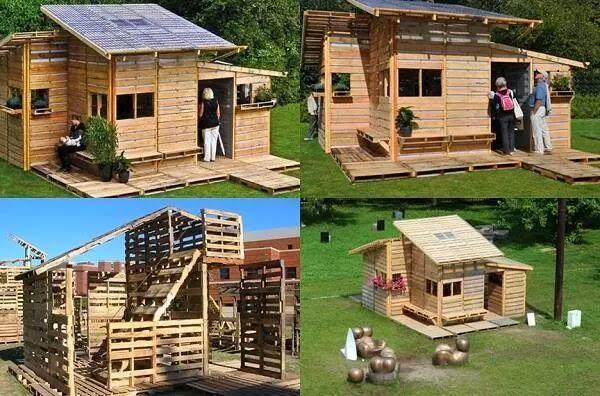 id es fait main une jolie cabane en bois de palette. Black Bedroom Furniture Sets. Home Design Ideas