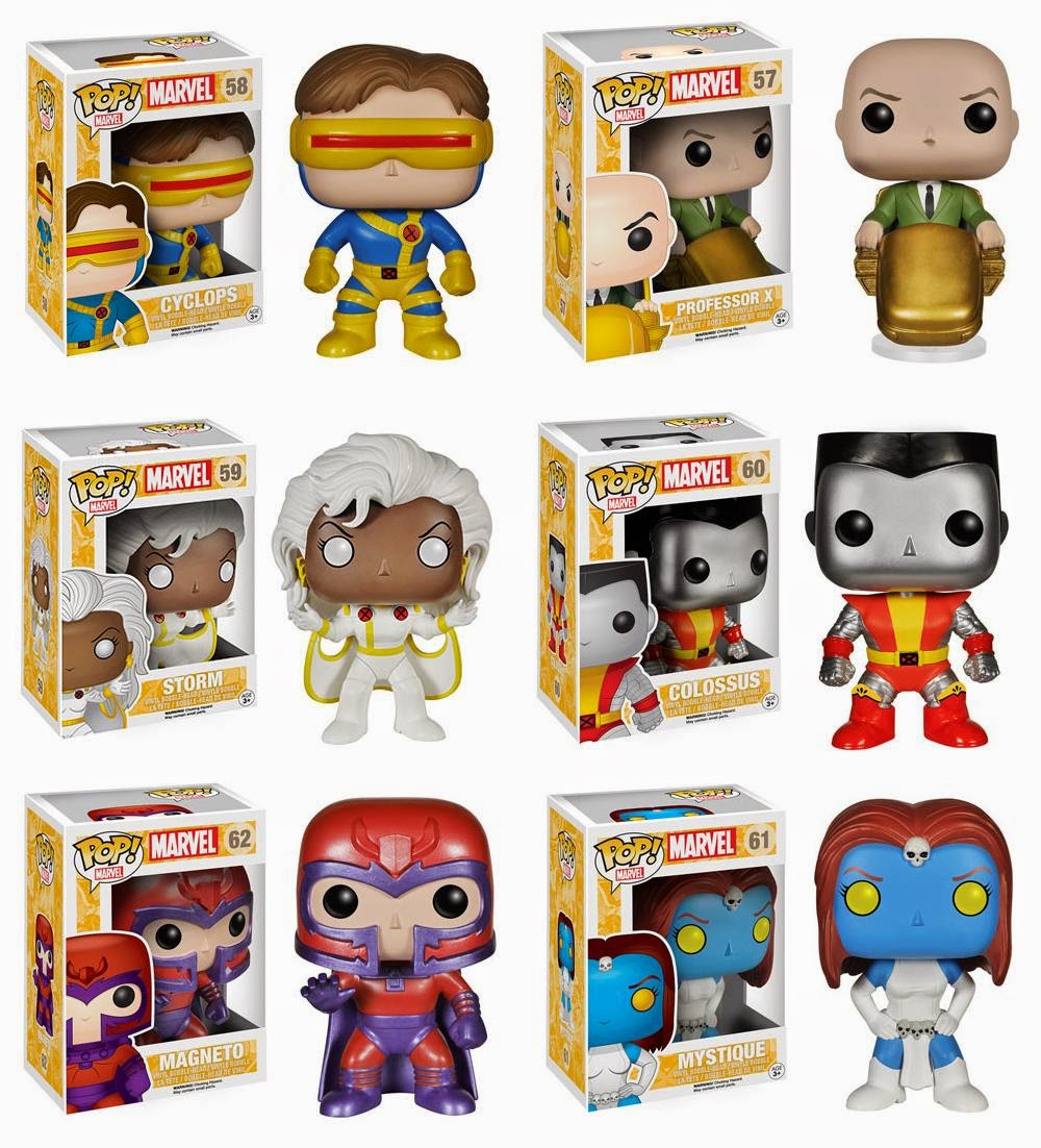 """Classic"" X-Men '90s Era Pop! Vinyl Figures by Funko - Cyclops, Professor X, Storm, Colossus, Magneto & Mystique"