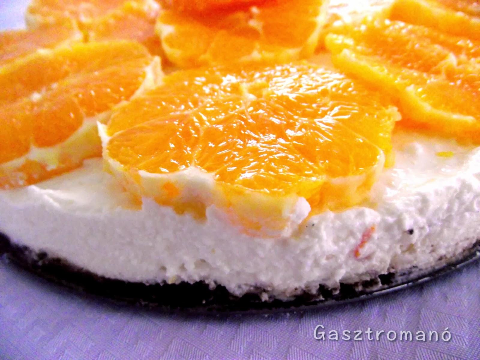 Narancsos túrótorta sütés nélkül