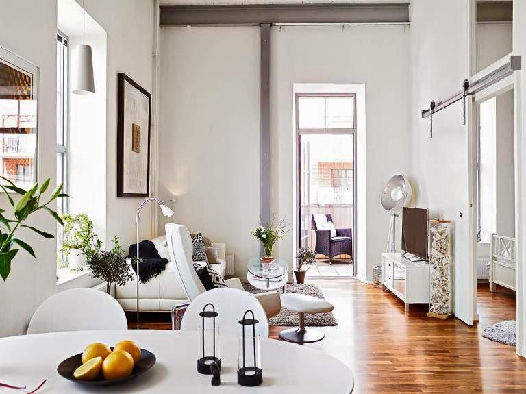 Shibar ita estilo n rdico vi un piso con techos altos - Piso estilo nordico ...