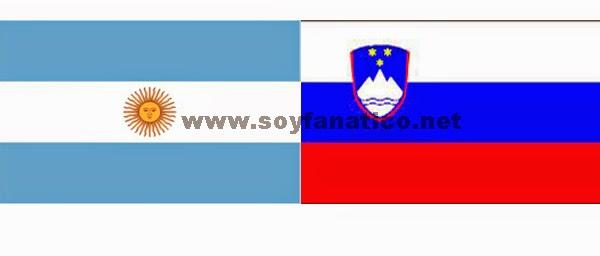 Argentina vs Eslovenia - Amistoso 2014
