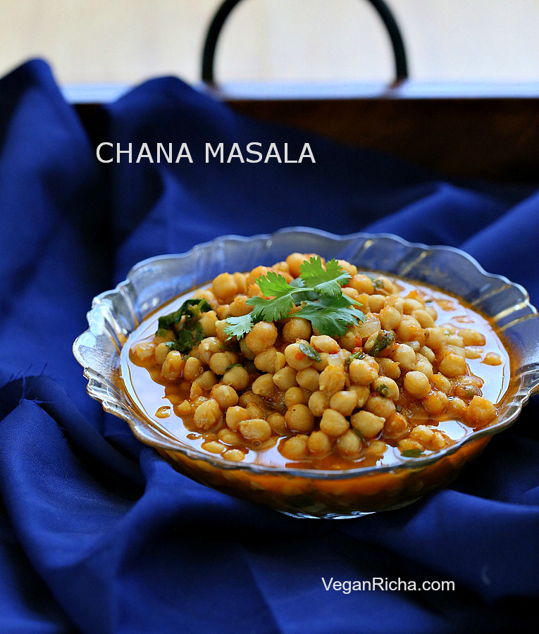 Vegan Chana Masala - Chickpea Curry with Red Bell Pepper