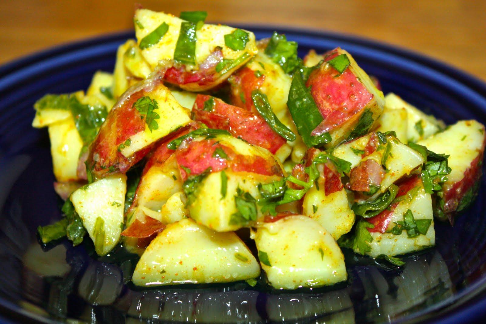 18 Hour Kitchen: Curried Potato Salad (vegan)
