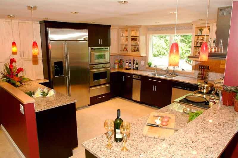 warna dapur cantik
