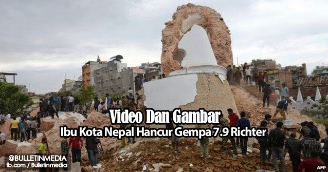 Video & Gambar : Everest Bergegar, Ibu Kota Nepal Hancur Gempa 7.9 Richter