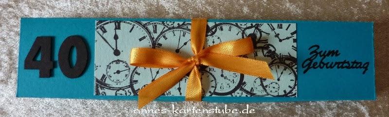 Annes Kartenstube Geldgeschenk Fur Eine Uhr