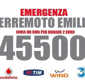 Aiuta i terremotati dell'Emilia Romagna