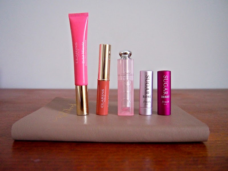 tinted lip products