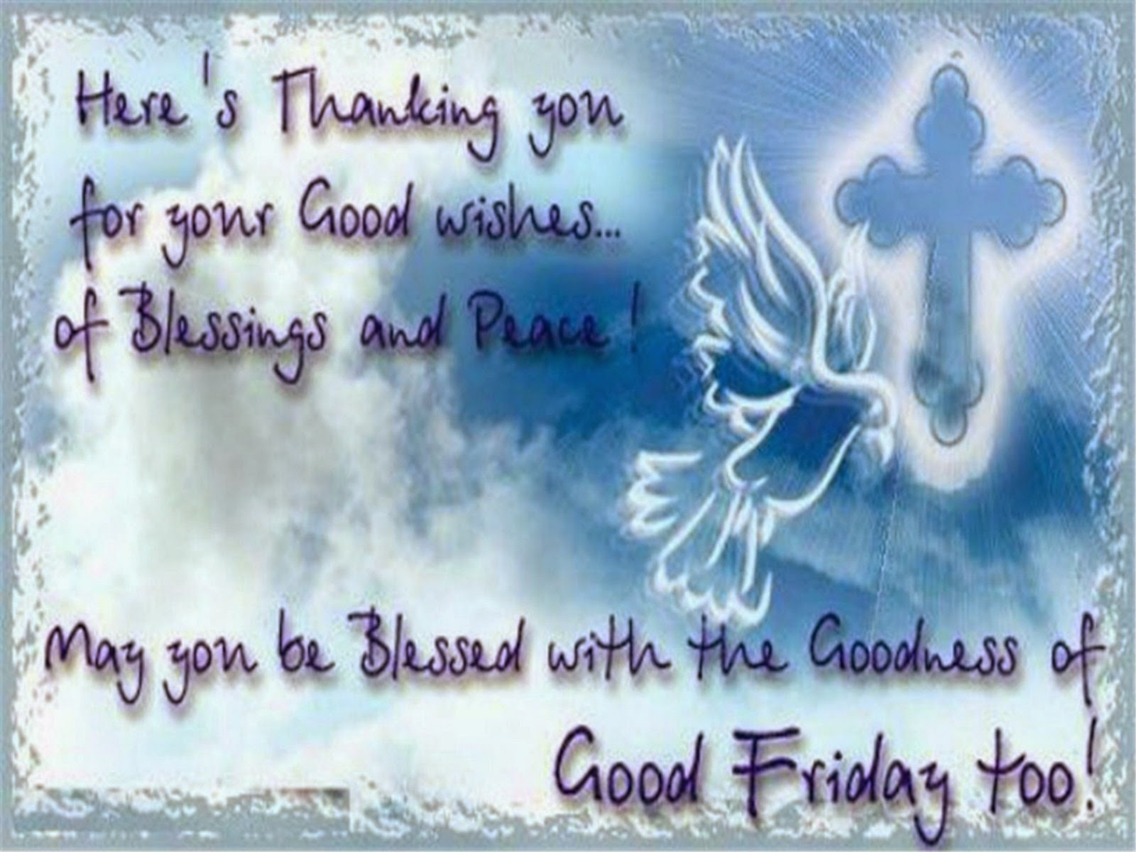Happy Good Friday Images-pictures sky blue background+quote