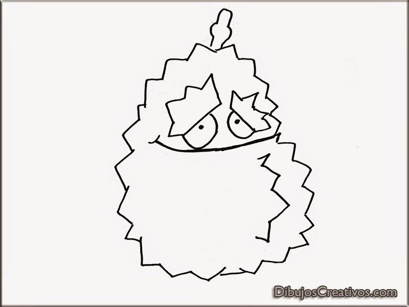 dibujos para colorear DURIAN PLANTAS VS ZOMBIES 2