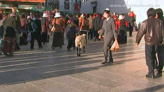 in the streets of Lhasa - Tibet