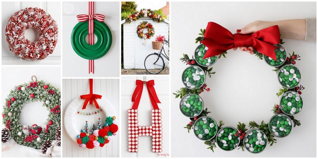 12 weeks of christmas 23 cute and festive diy holiday wreaths - Cute Christmas Diys