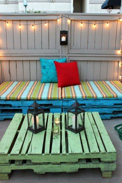 Decoracion y Muebles para terraza con palets