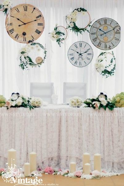 Home Decorating Ideas: Vintage wedding style: The clock theme