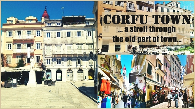 Corfu Town: Stroll through the old part of town (video). Corfu town video. Grad Krf video.