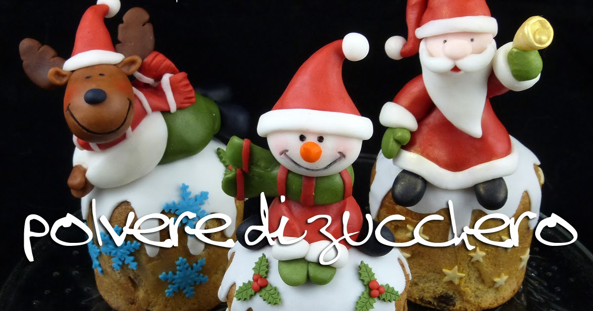Cake Design Provincia Varese : Tutorial: Babbo Natale, Pupazzo di neve, Renna in pasta di ...