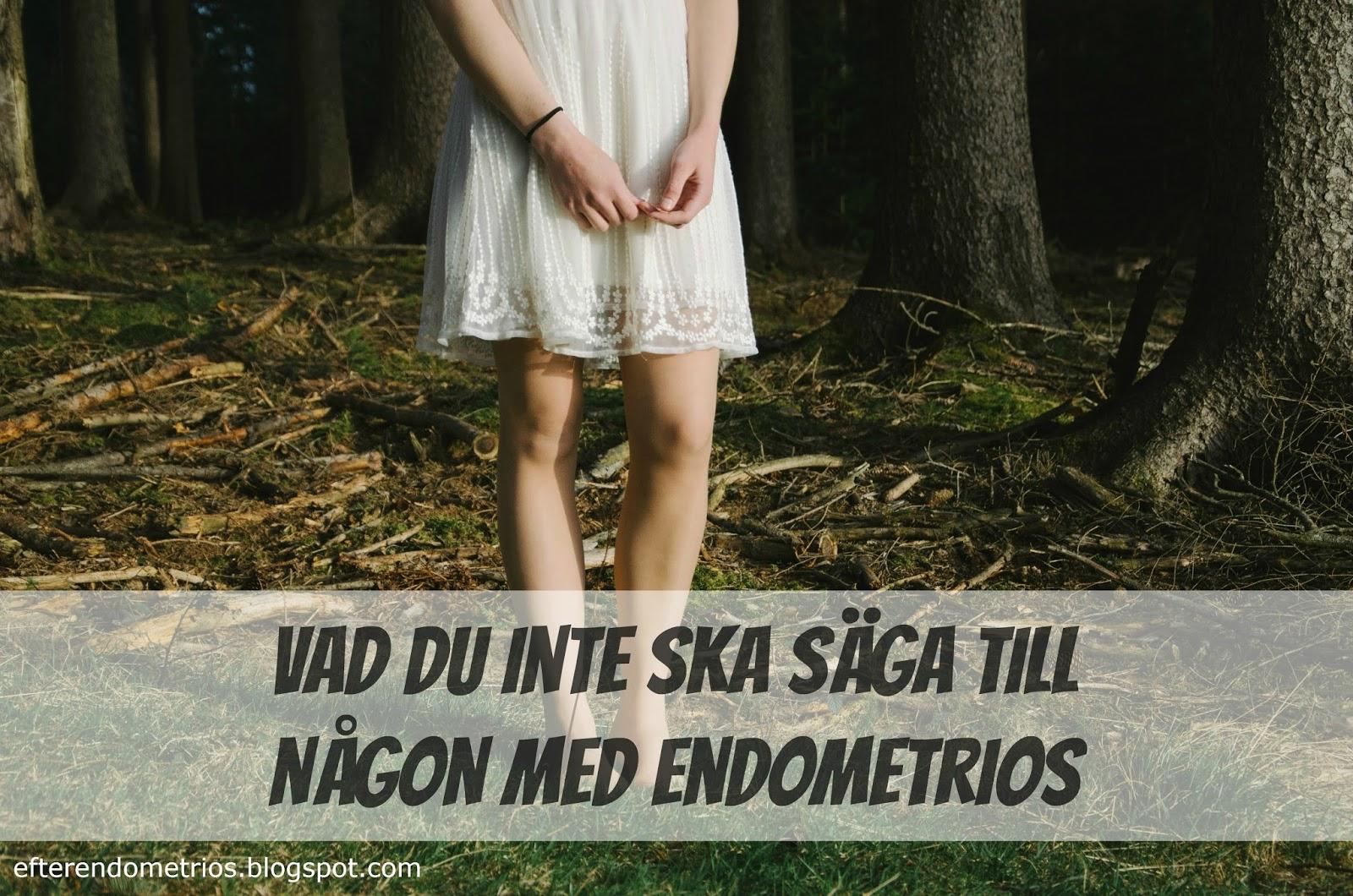 endometrios smärta i benen