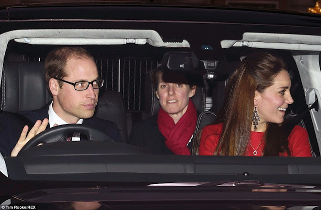 Kate Middleton and Prince William attends Buckingham Palace Christmas lunch