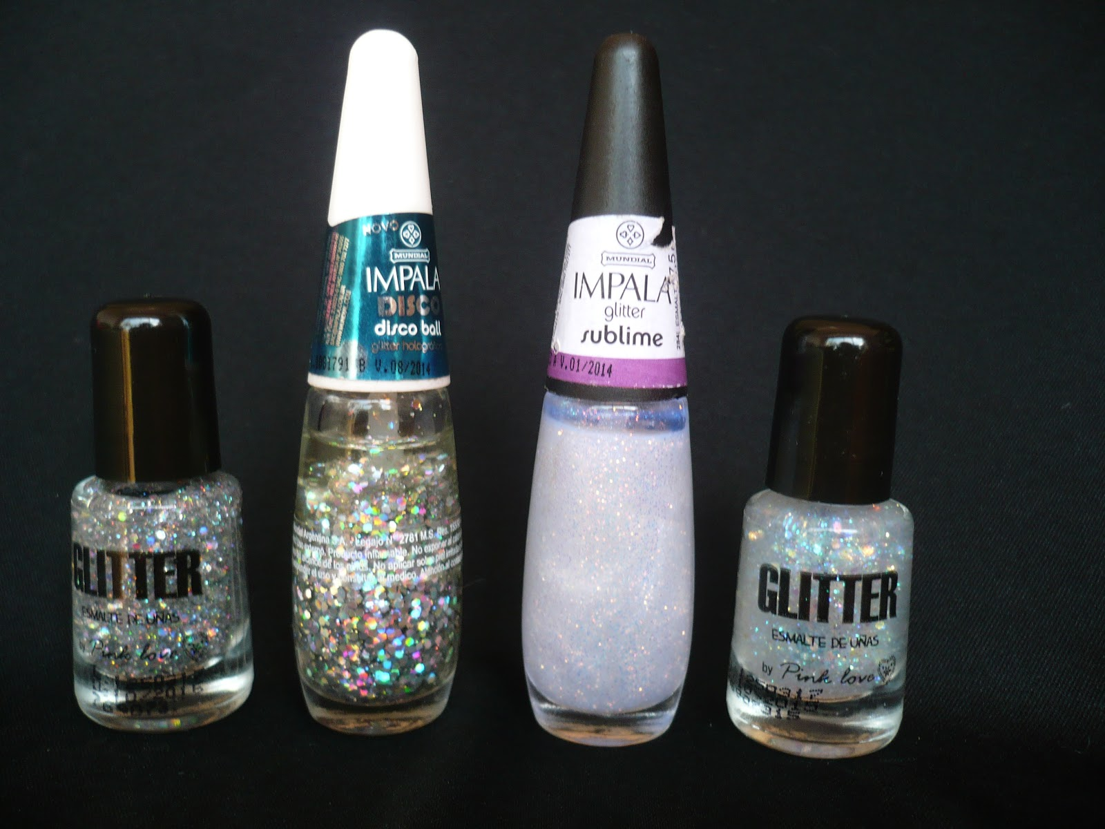 Todo Moda Glitters, Impala Disco Ball, Sublime, opiniones swatch review, comparación
