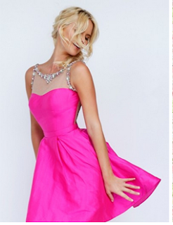 http://www.sherrylondon.co.uk/fancy-short-illusion-neck-aline-short-fuchsia-taffeta-prom-dress-with-beading-p-14149.html