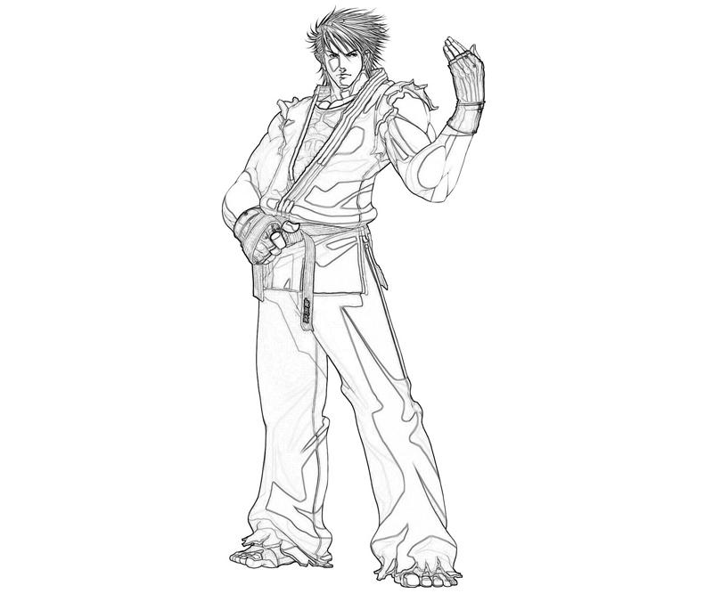 king-of-fighters-ryo-sakazaki-handsome-coloring-pages