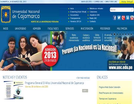 2013 universidad de cajamarca con gran emocion rindieron cientos de