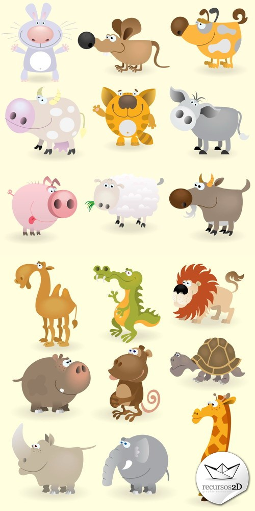 Caricaturas de animales en vector (Cartoon Vector Animals)