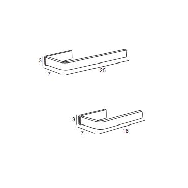 medidas toallero anilla baño