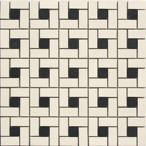 Bathroom Shower Tiles on Original Windmill Mosaic Tile Floor  Total Black And White Score