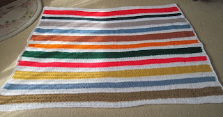 crocheted stripes