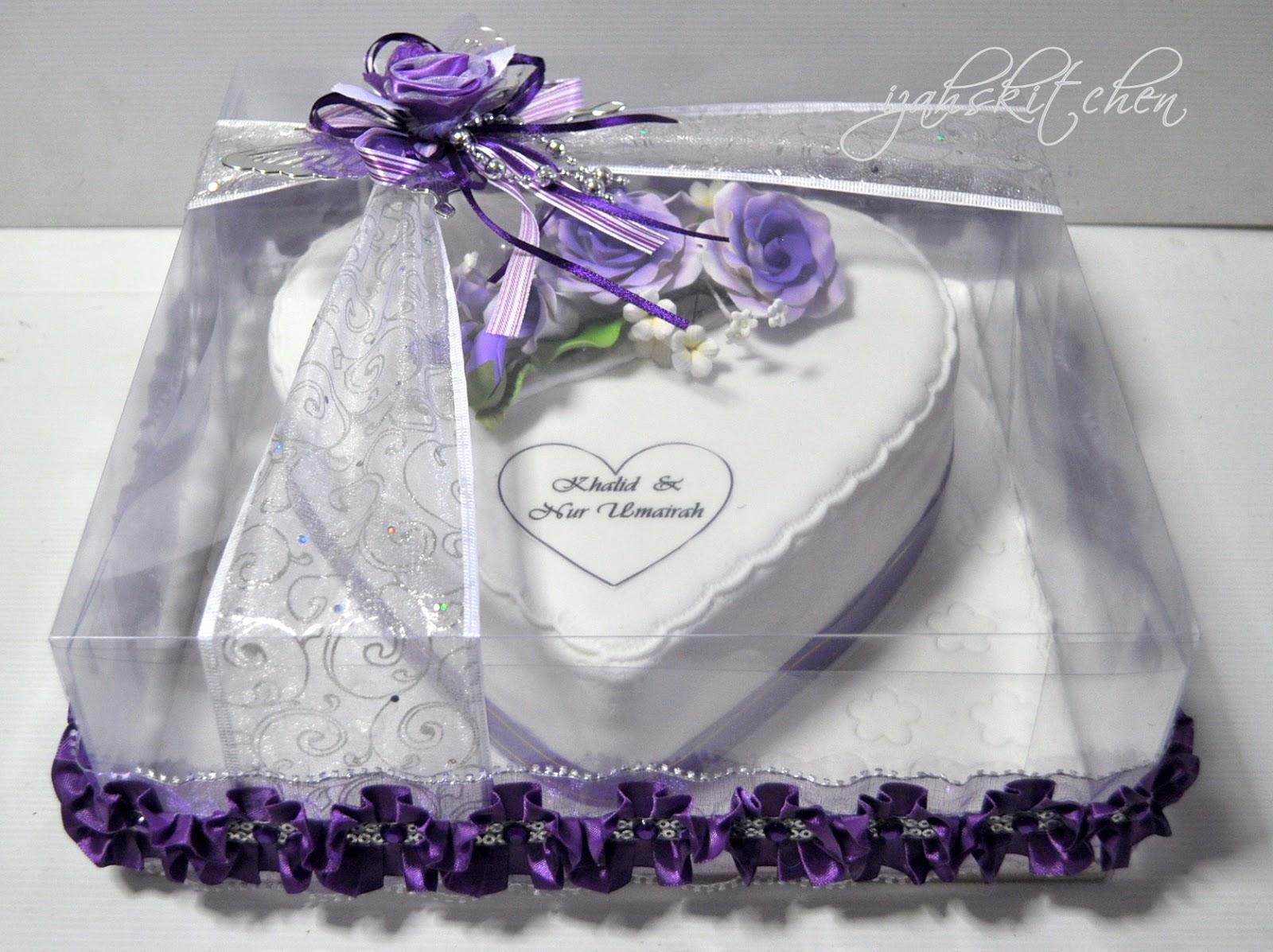 Izah\'s Kitchen: Hantaran Cake - Heart Shape
