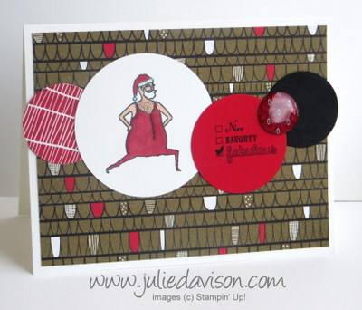 Stampin' Up! Visions of Santa Circles Card #stampinup www.juliedavison.com