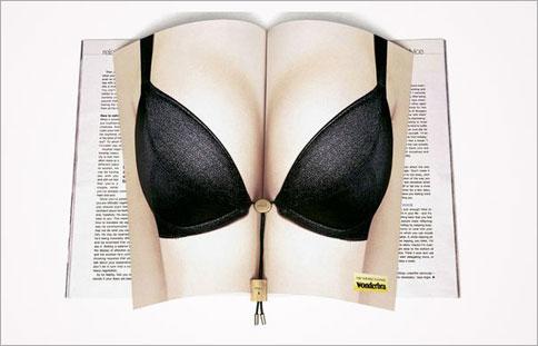 Innovative magazine print ads