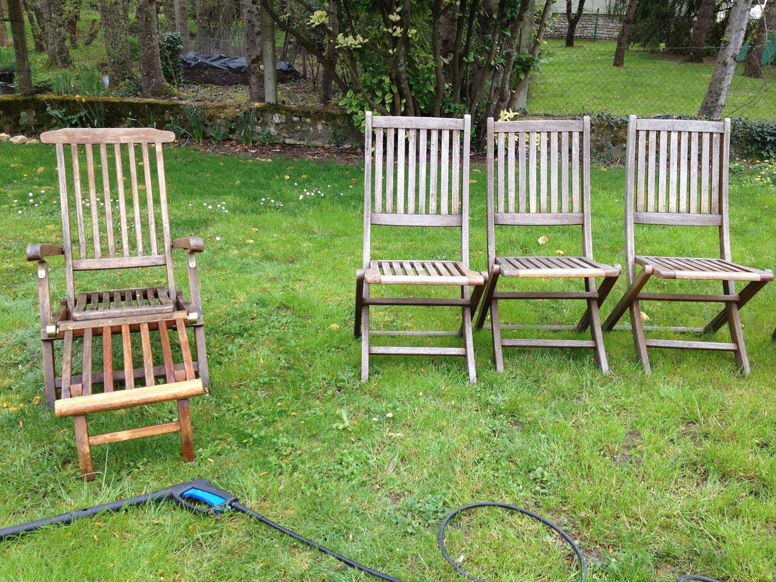 Rénovation de mobilier de jardin en eucalyptus   Mes rénovations de ...