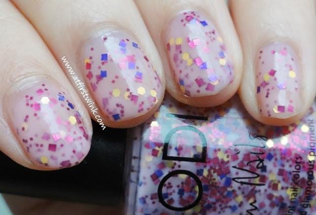 Modi Glam Nails nail polish no. 72 - Wild Strawberry